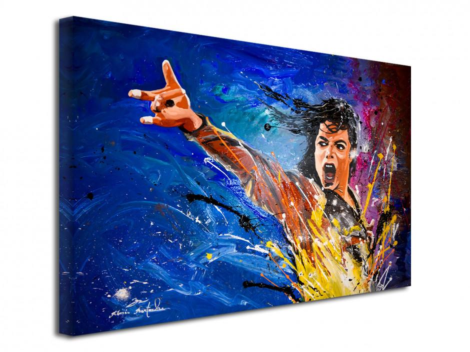 Tableau reproduction peinture serie limitée Michael Jackson