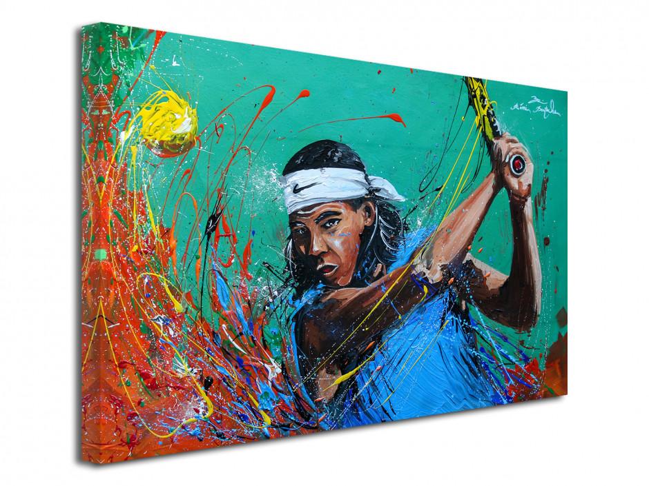 Tableau reproduction peinture sur toile Tennisman