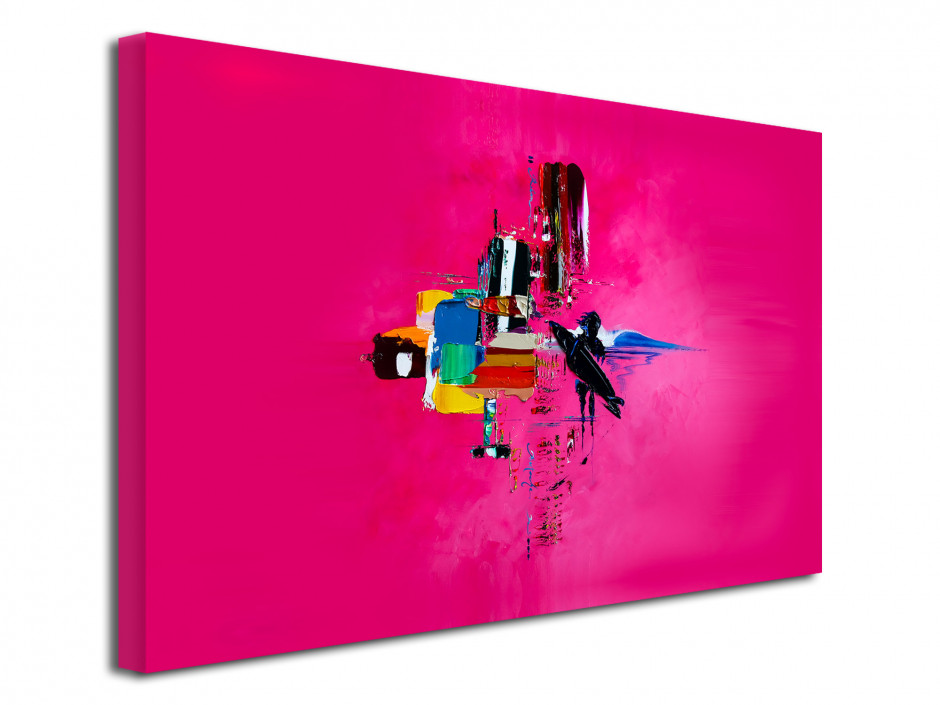 Tableau Pink Surf Abstract reproduction tableau Rémi Bertoche