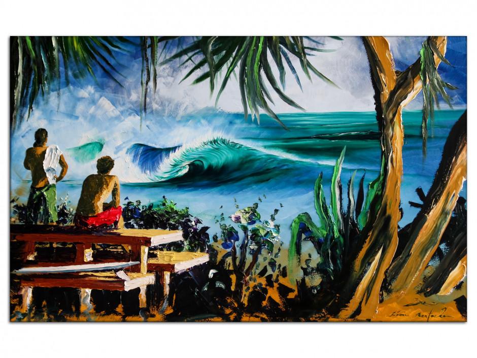 Tableau Pipe reproduction peinture Rémi Bertoche sur toile imprimée