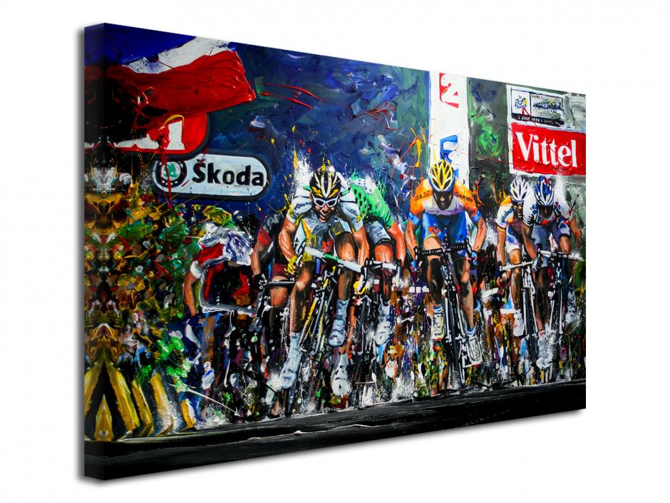 Tableau déco Tour de France reproduction peinture Artiste Rémi Bertoche