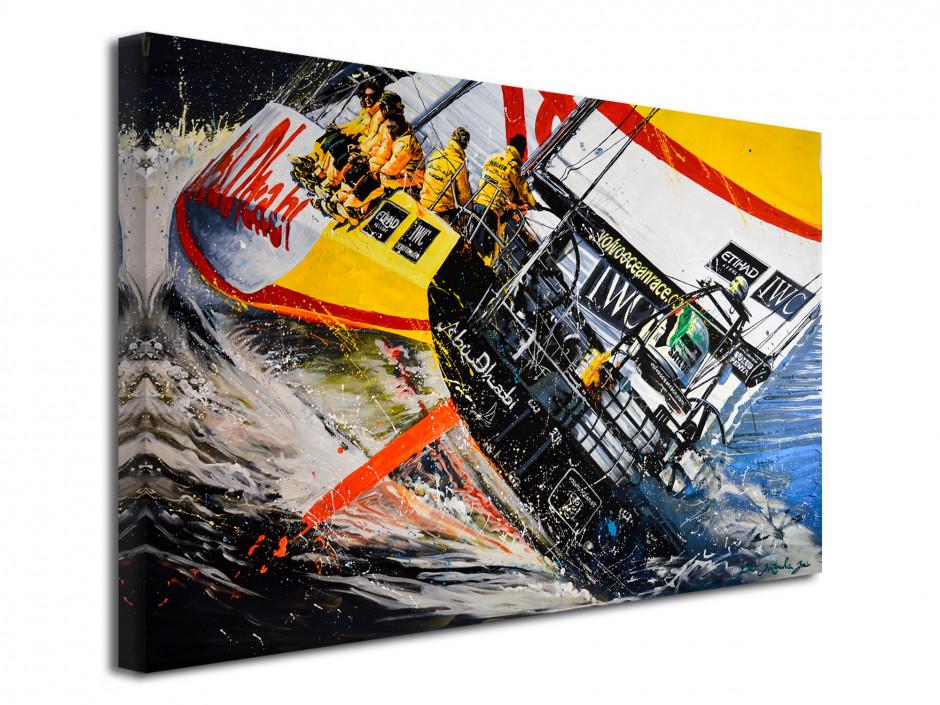 Reproduction peinture Rémi Bertoche sur toile imprimée Ocean Race