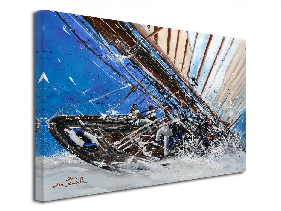 Reproduction peinture Rémi Bertoche sur toile Yacht Show