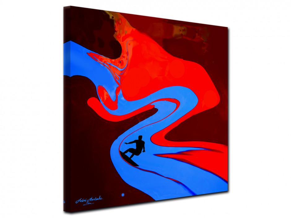 Tableau Surf the painting reproduction toile Rémi Bertoche série limitée