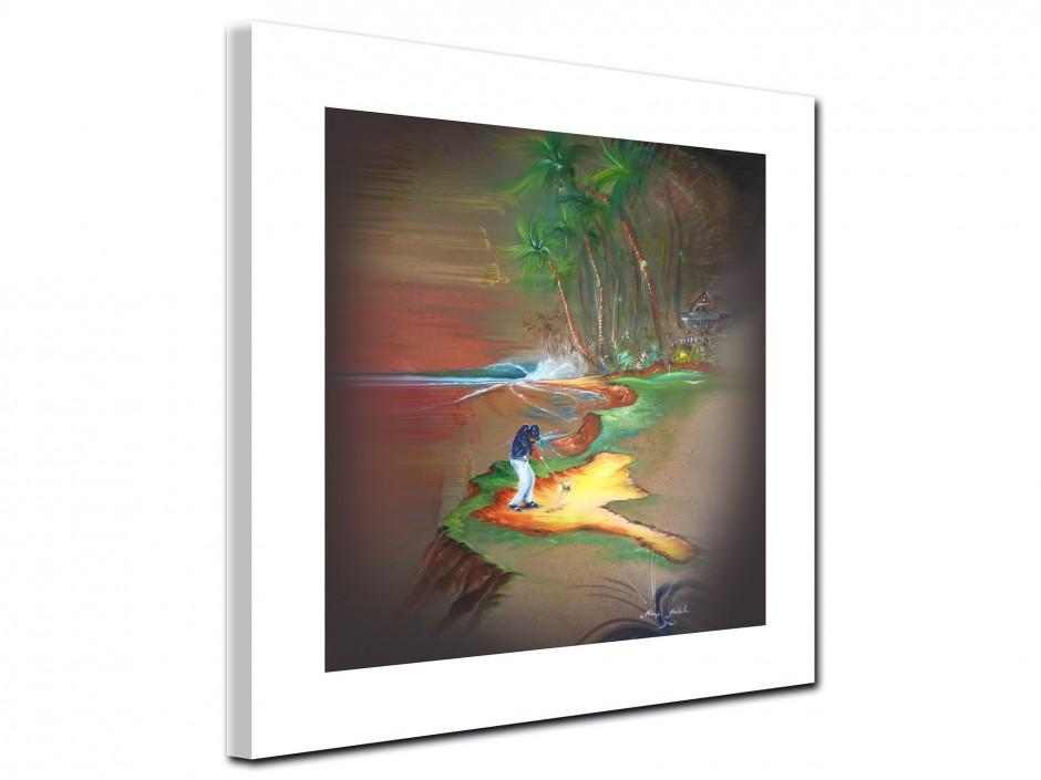 Tableau golf ambiance reproduction Peinture Rémi Bertoche Série limitée