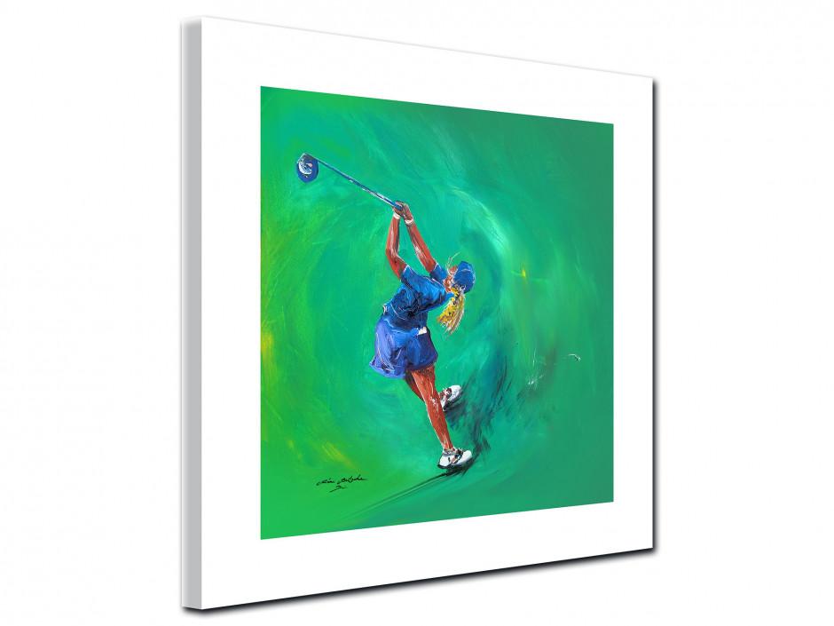 Tableau décoratif Golf Girl reproduction peinture Rémi Bertoche
