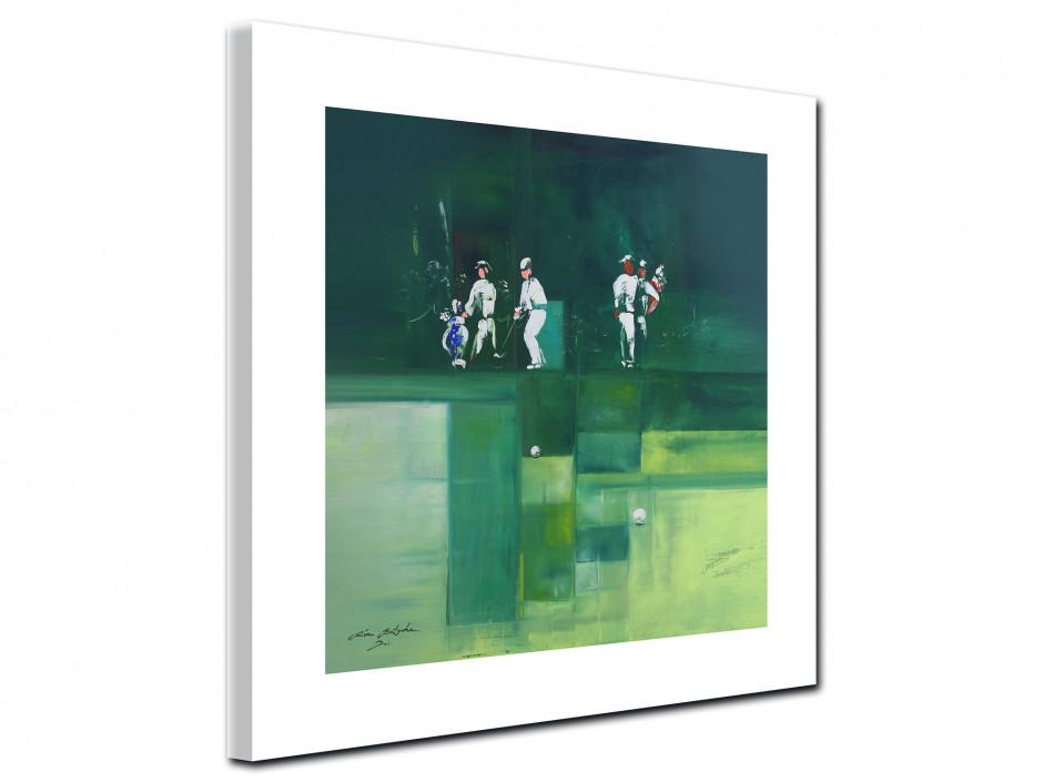 Reproduction tableau Golf Green par Rémi Bertoche sur toile imprimée