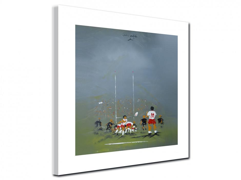 Reproduction tableau Rémi Bertoche sur toile imprimée Rugby