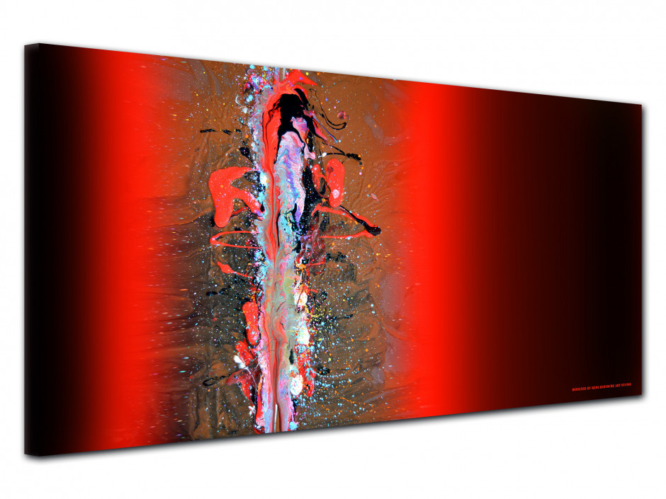 Tableau déco Abstract red and black reproduction sur toile