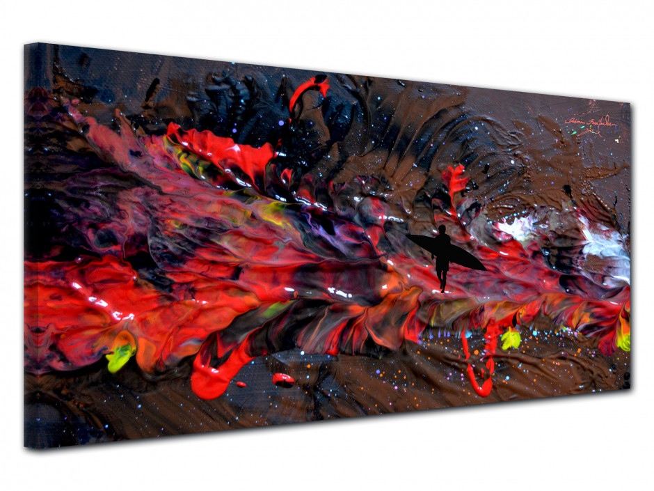 Tableau déco abstract painting reproduction peinture Rémi Bertoche