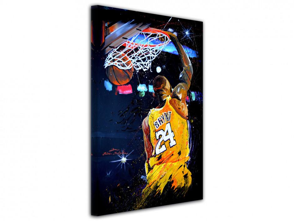 Reproduction tableau Rémi Bertoche basket Lakers sur toile imprimée