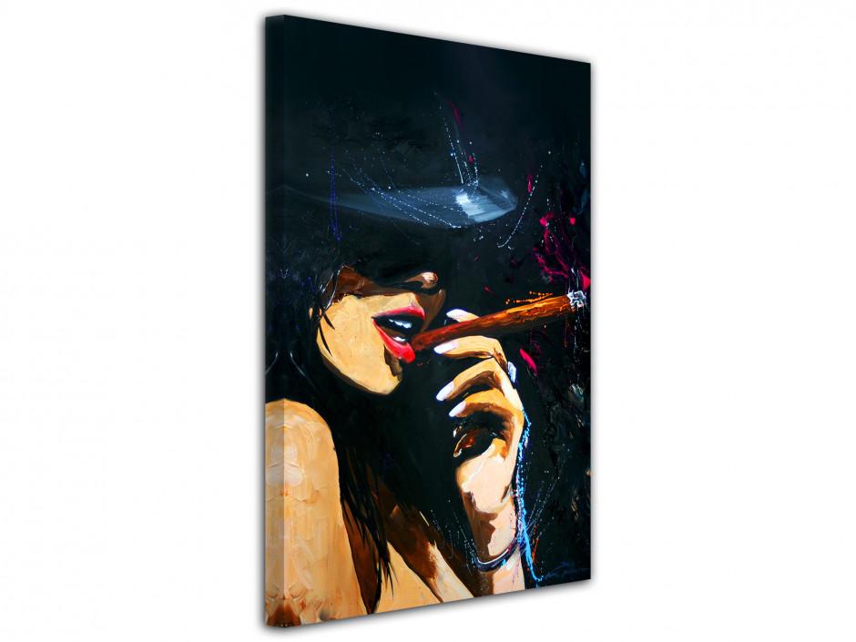Tableau déco reproduction sur toile imprimée Cigar Girl
