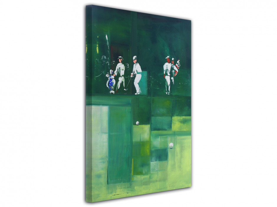Tableau Rémi Bertoche golf abstract Reproduction toile imprimée