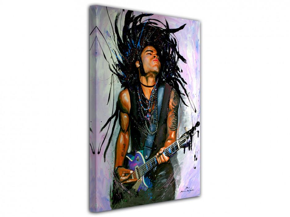 Tableau reproduction peinture Lenny Kravitz sur toile imprimée