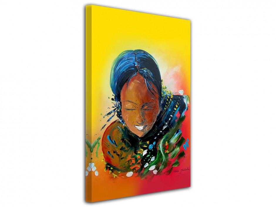 Tableau peinture Rémi Bertoche Tahiti girl reproduction sur toile