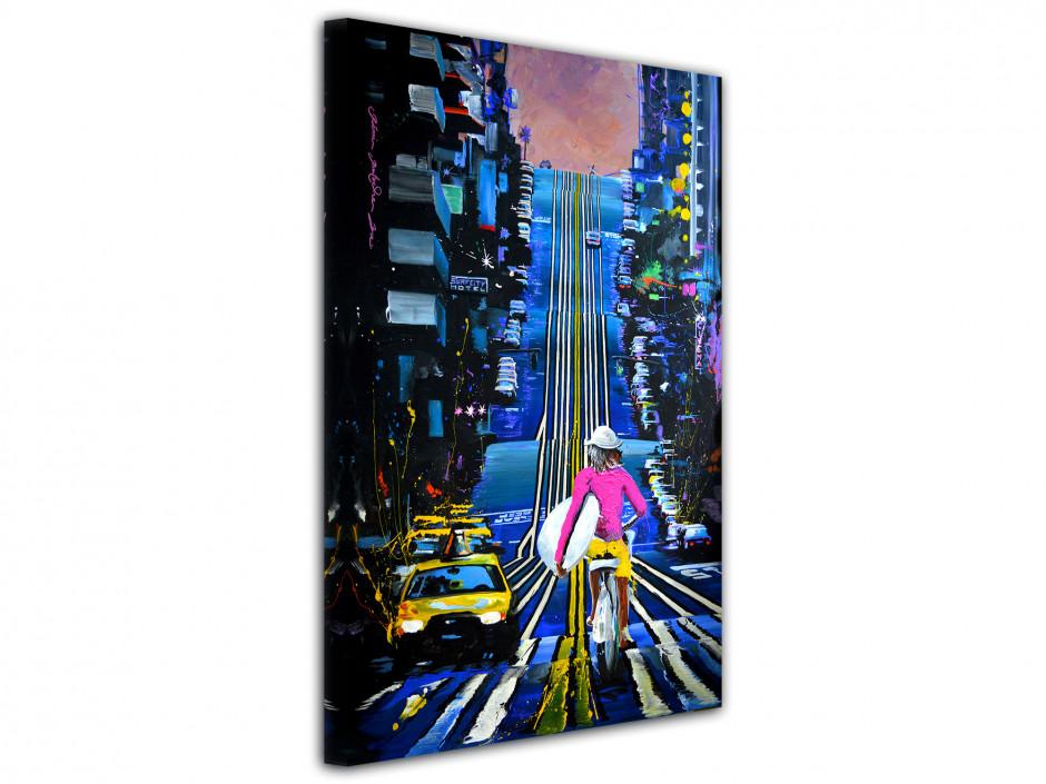 Tableau peinture Rémi Bertoche Urban rider reproduction sur toile imprimée
