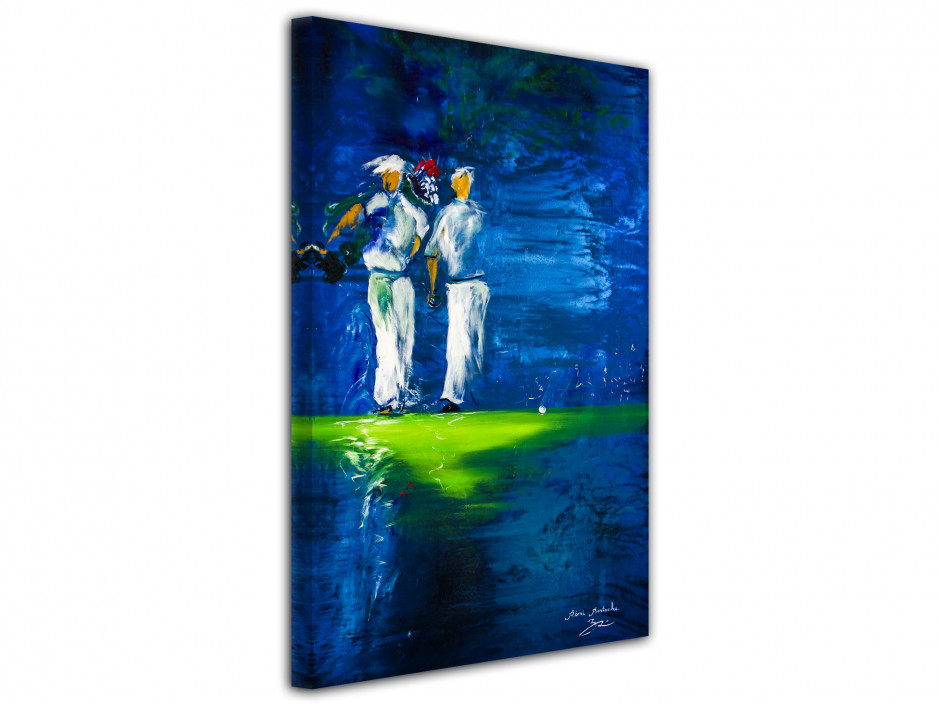 Tableau déco Golf Party reproduction artiste peintre Rémi Bertoche