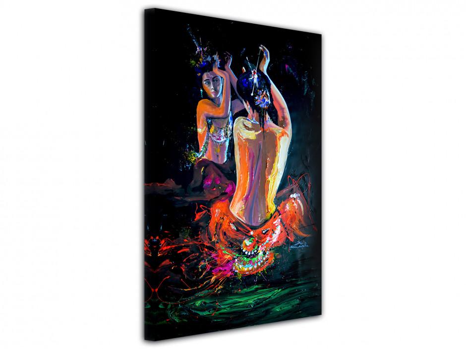 Reproduction tableau peinture India Girl par Rémi Bertoche