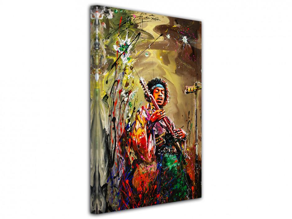 Reproduction tableau Rémi Bertoche sur toile imprimée Jimi Hendrix