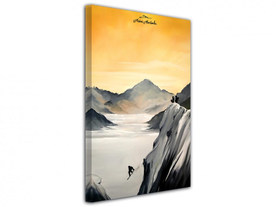 Tableau Snow Session reprodcution peinture sur toile imprimée