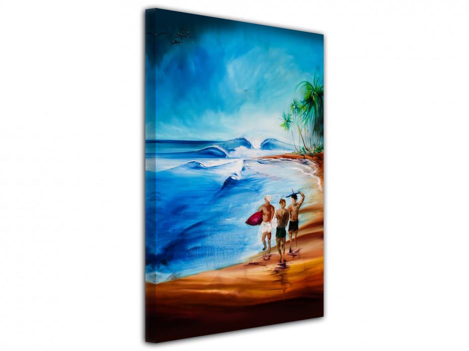 Reproduction tableau Rémi Bertoche surf ambiance en toile imprimée