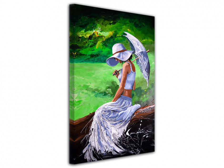 Reproduction peinture Artiste Rémi Bertoche sur toile imprimée Woman in Love