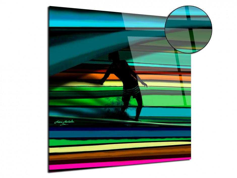 Tableau Plexiglas Surf the line