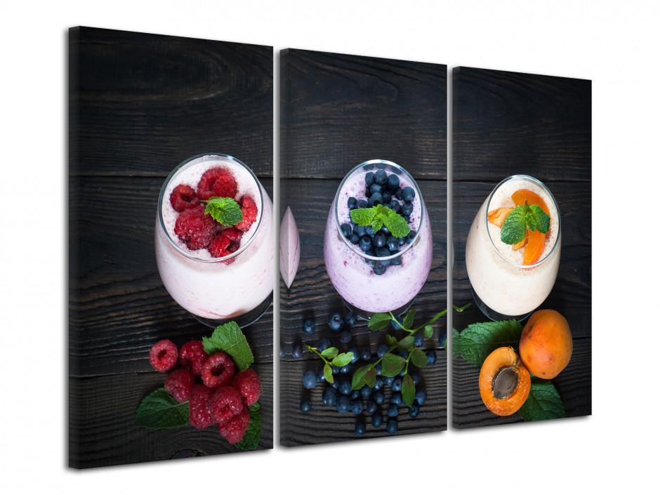 Tableau toile déco moderne Smoothies aux fruits