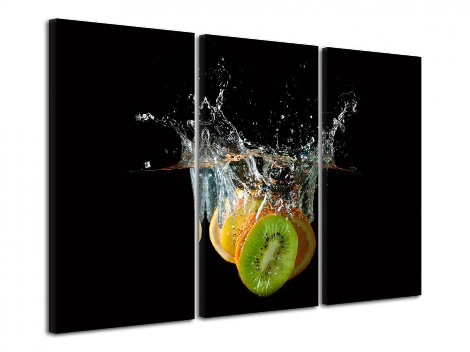 Tableau déco moderne Trio kiwi, orange et citron