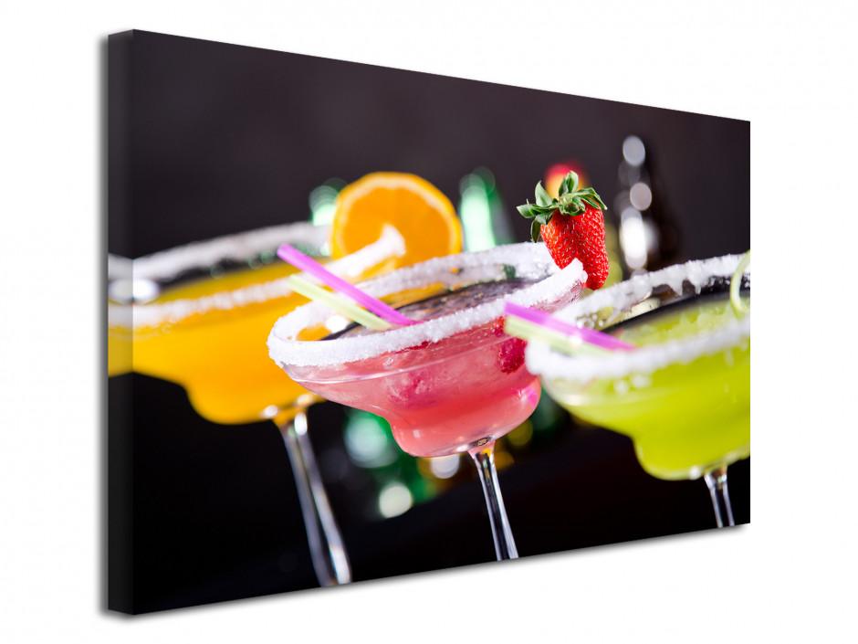 Tableau toile déco cocktail coloré