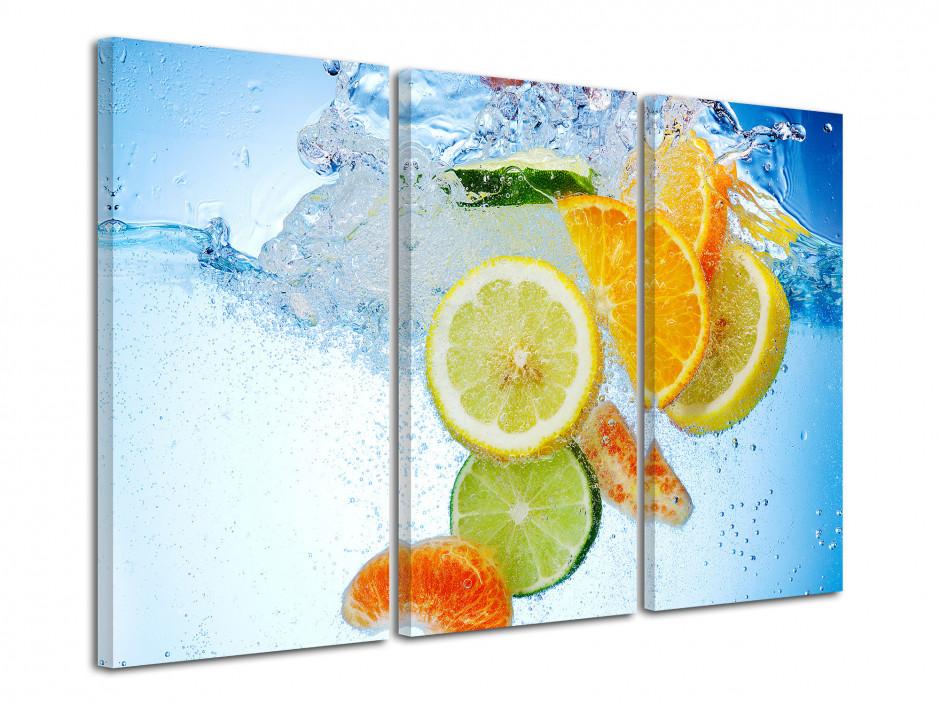 Tableau photo déco Fruits dans l'eau