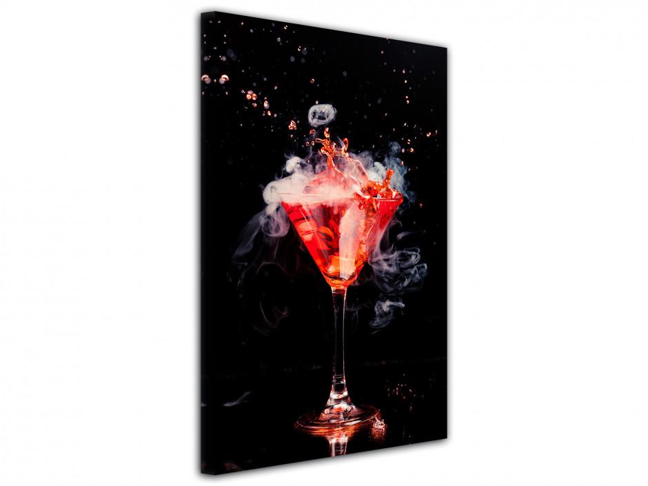 Tableau deco design Cocktail Rouge