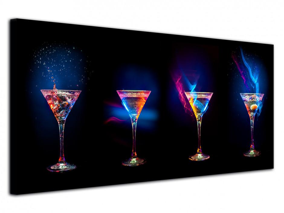 Tableau design moderne Les Verres à Cocktail