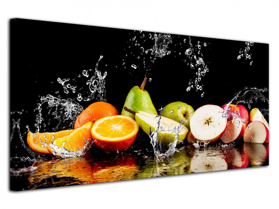 Cadre déco panoramique Les Fruits