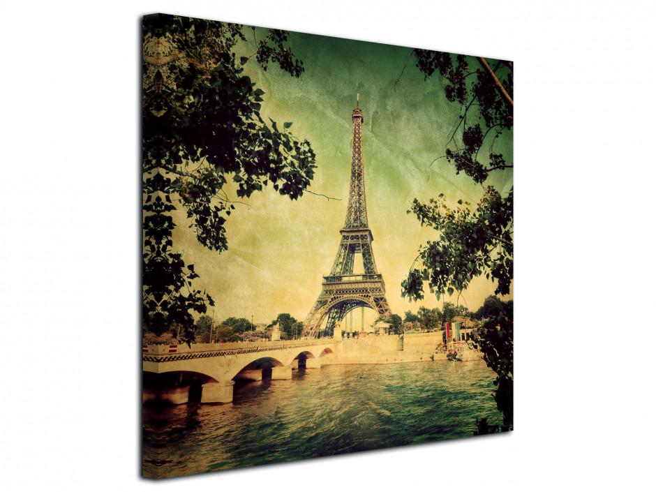 Tableau deco vintage Paris Tour Eiffel