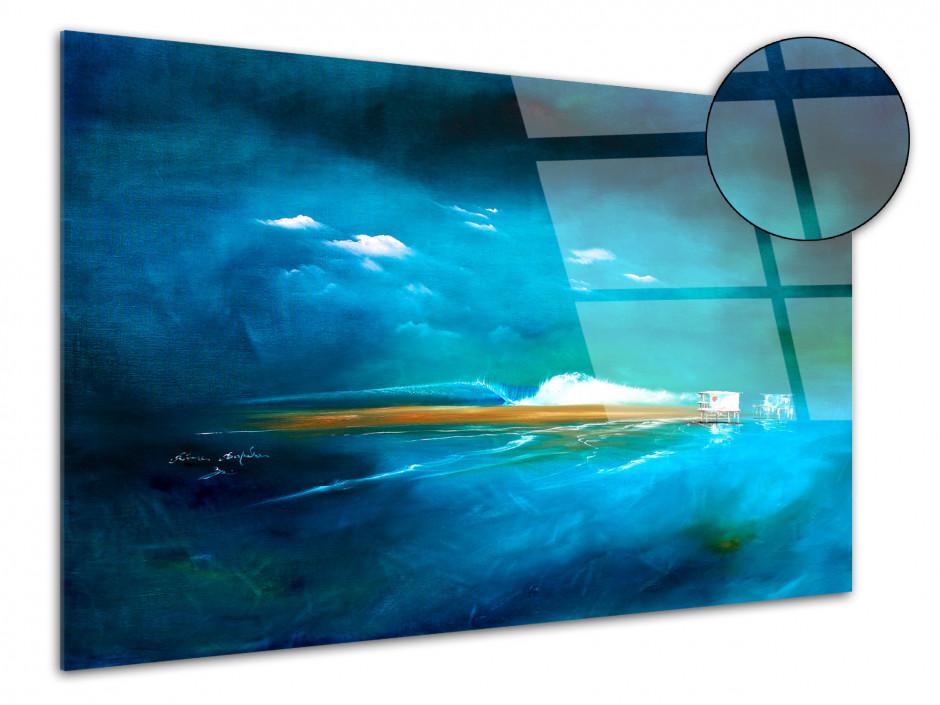 Reproduction Peinture sur plexiglass Esprit des Iles