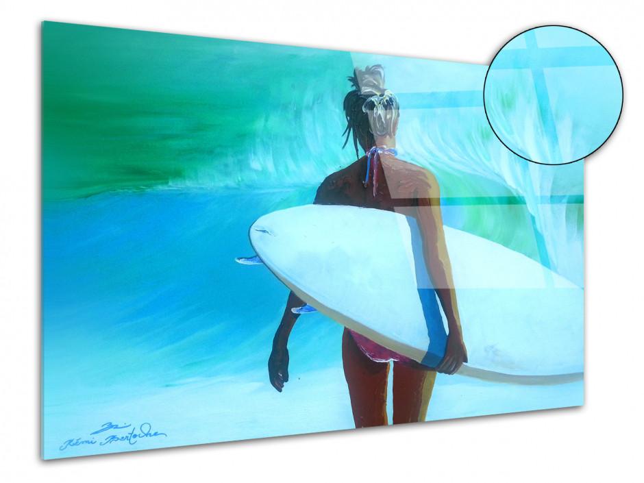 Tableau déco reproduction sur plexiglas Rémi Bertoche Surfer Girl