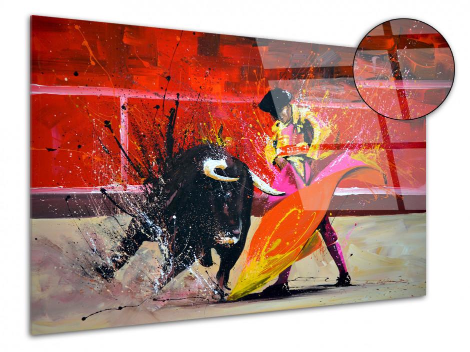Reproduction peinture sur plexiglas Toro