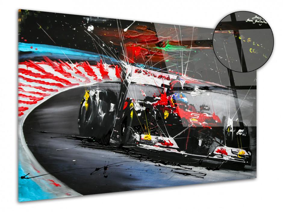 Reproduction peinture Rémi Bertoche sur plexiglas Course F1