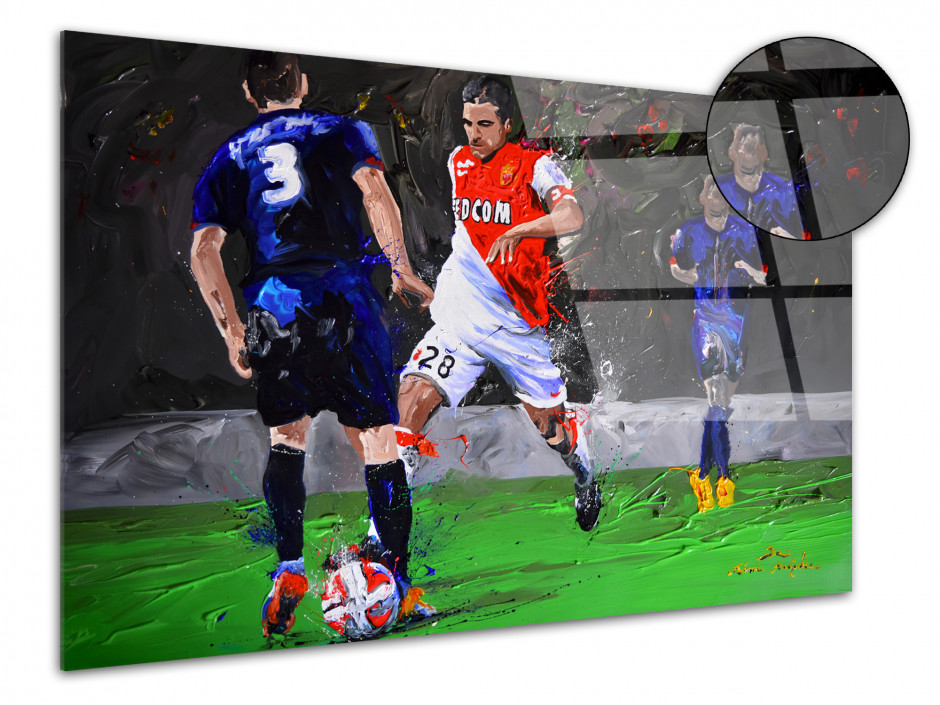 Tableau reproduction peinture sur plexiglas AS Monaco