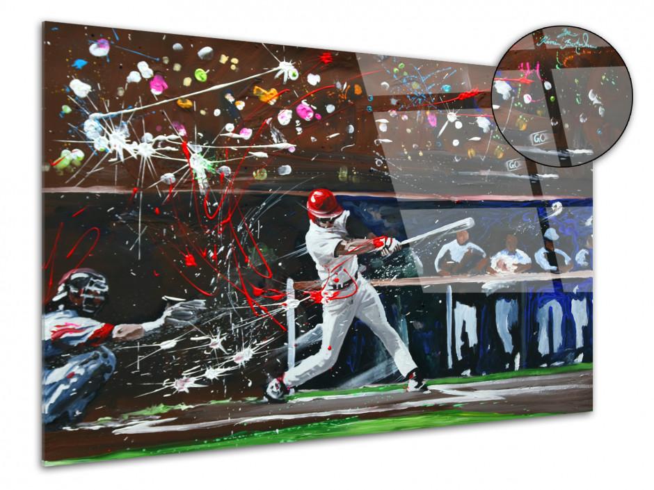 Tableau plexiglas décorative reproduction peinture Baseball
