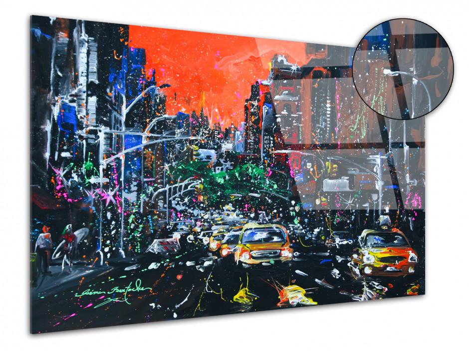 Tableau City Fire reproduction peinture sur plexiglas
