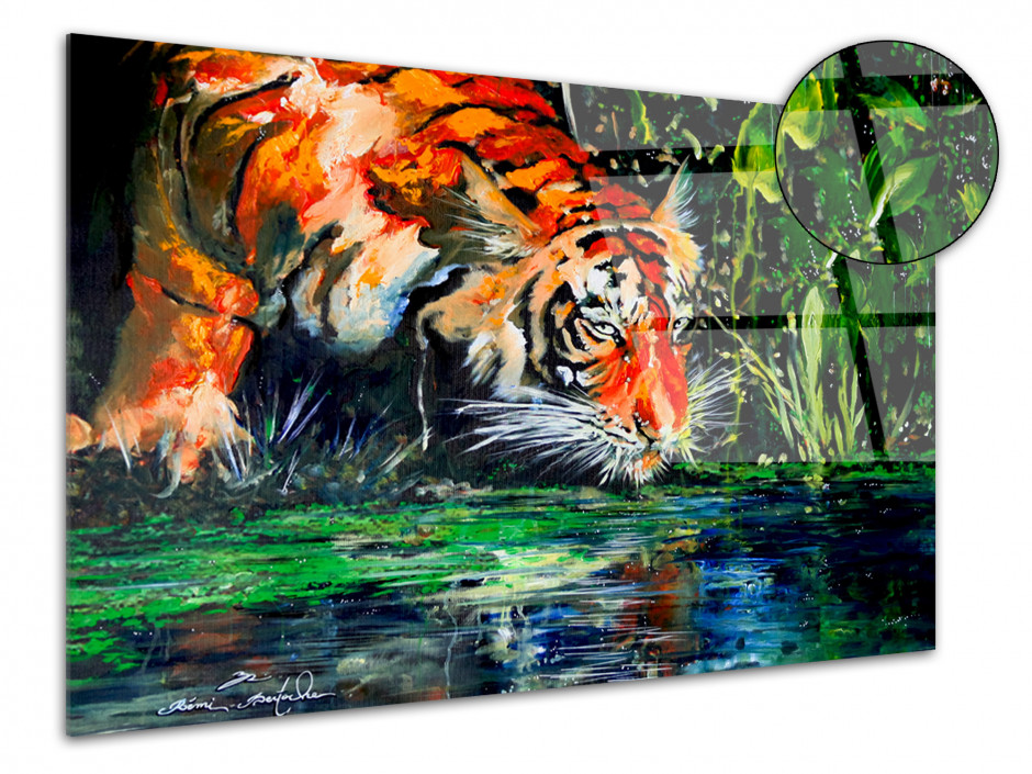Tableau reproduction sur plexiglas eye of the tiger par Rémi Bertoche