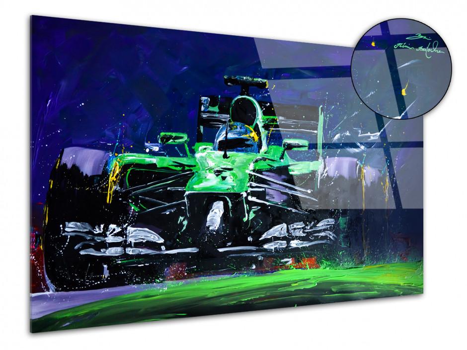 Reproduction tableau plexiglass Rémi Bertoche F1 Green