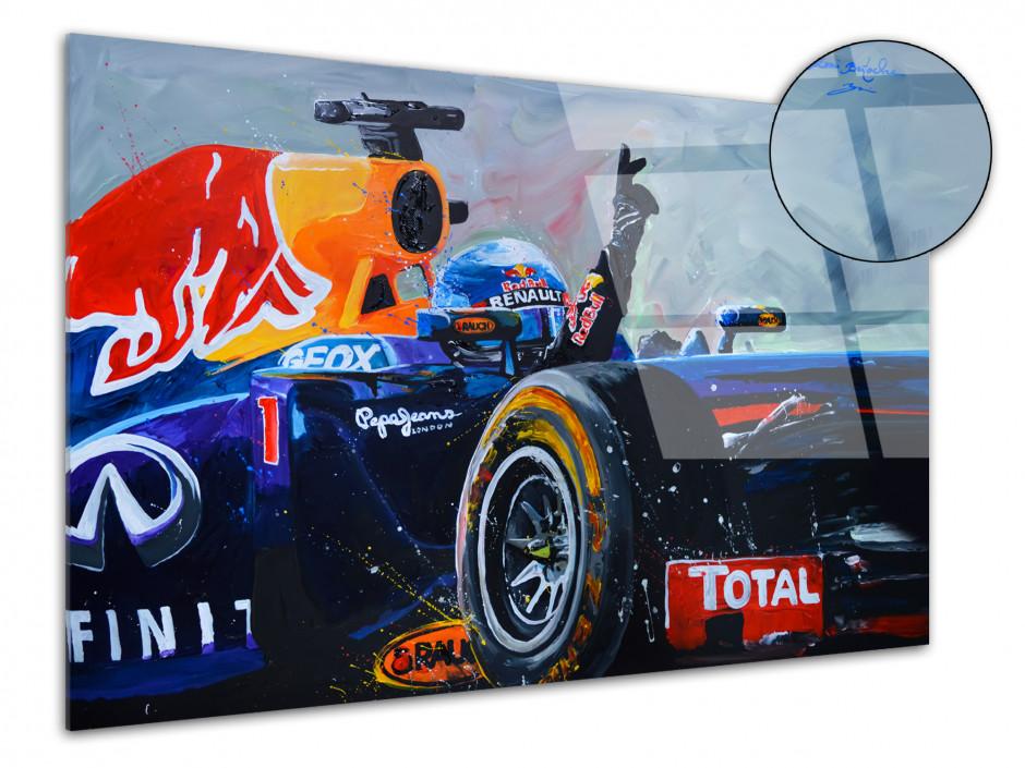 Reproduction tableau plexiglass Rémi Bertoche course F1