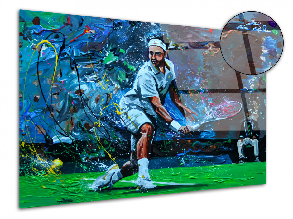 Tableau plexiglas déco murale reproduction peinture Tennisman