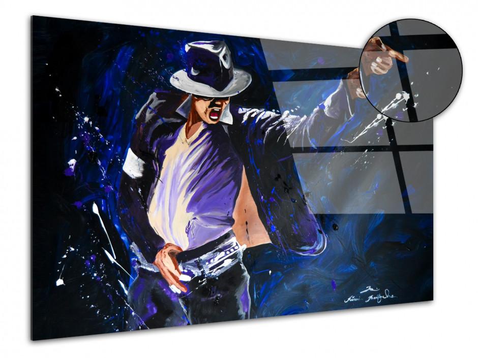 Reproduction peinture sur plexiglas Serie Limitée King of Pop