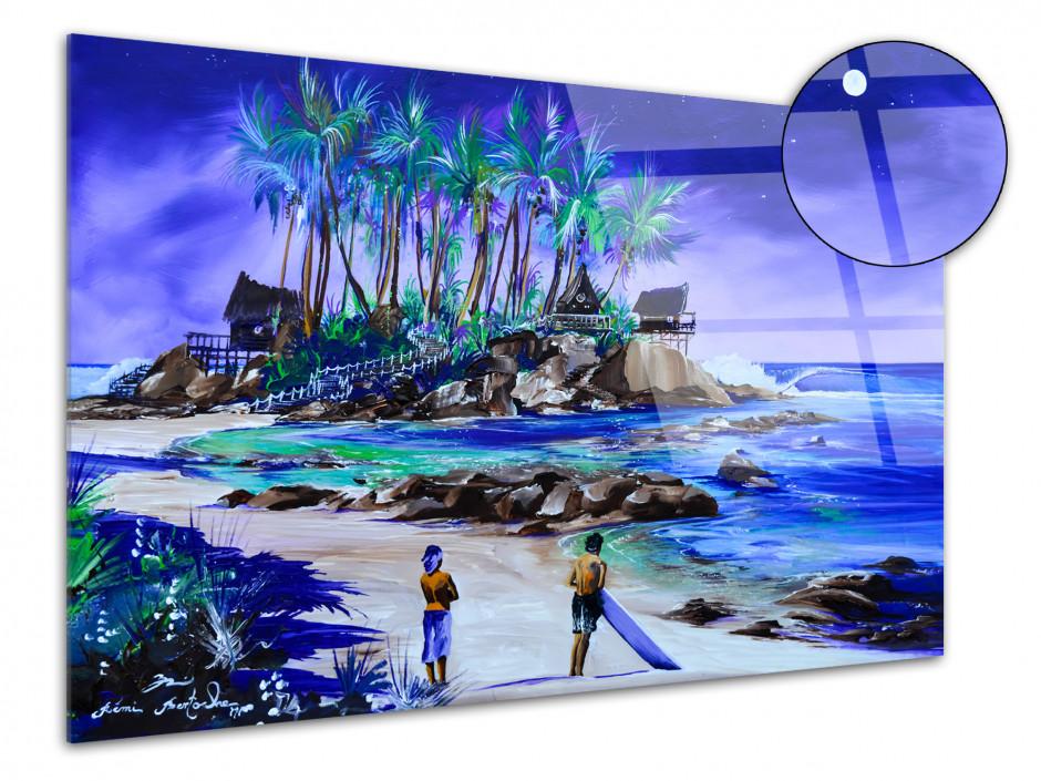 Tableau reproduction peinture sur plexiglas Lady Full Moon
