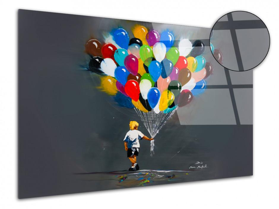 Tableau Rémi Bertoche reproduction sur plexiglas Les Ballons du p'tit
