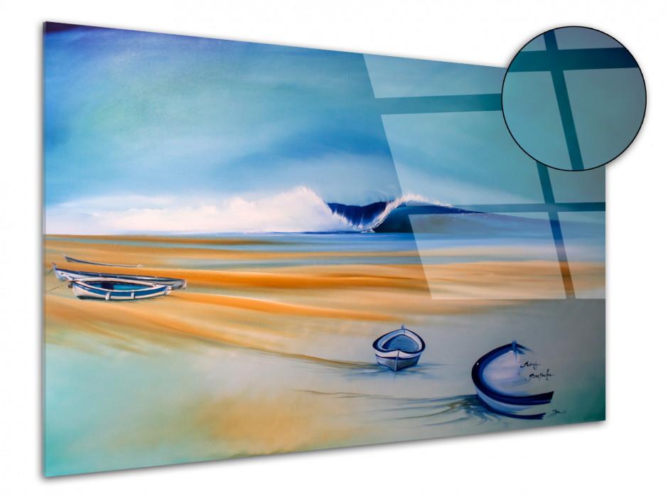 Tableau peinture reproduit sur plexiglas Les Barques